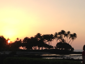 Figure 2. Sunset on the Big Island. Attendees of PSB know this Fairmont Orchid spot well. January 2013.