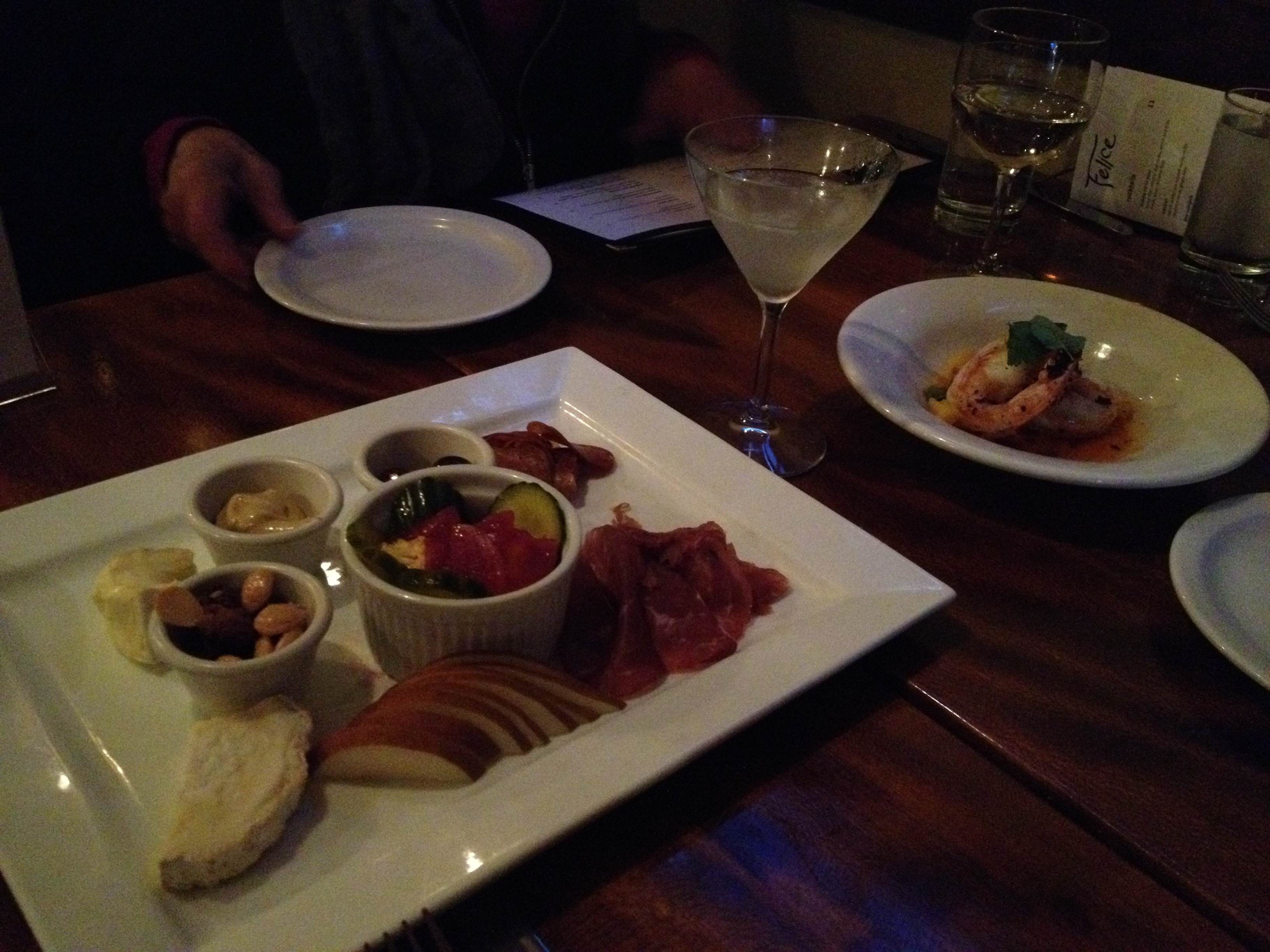 Figure 3.  The big board has meat, cheese, and other stuff to make a table happy and satisfied until the entrees arrive.