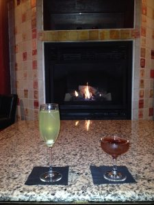 Figure 2. Baby it's cold outside, but The Fairmount is inside, warm, and has a nice fireplace!