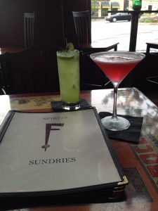 Figure 1. Nightly drink and nosh served up at The Fairmount.