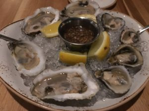 Figure 3. Fresh oysters on the half shell. Ask your server for today's selection!