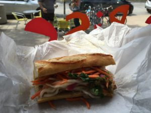 Figure 1. Banh Mi sandwich from On The Rise Artisan Bread & Pastries.