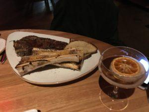 Figure 7. Steak with a side of bone marrow.