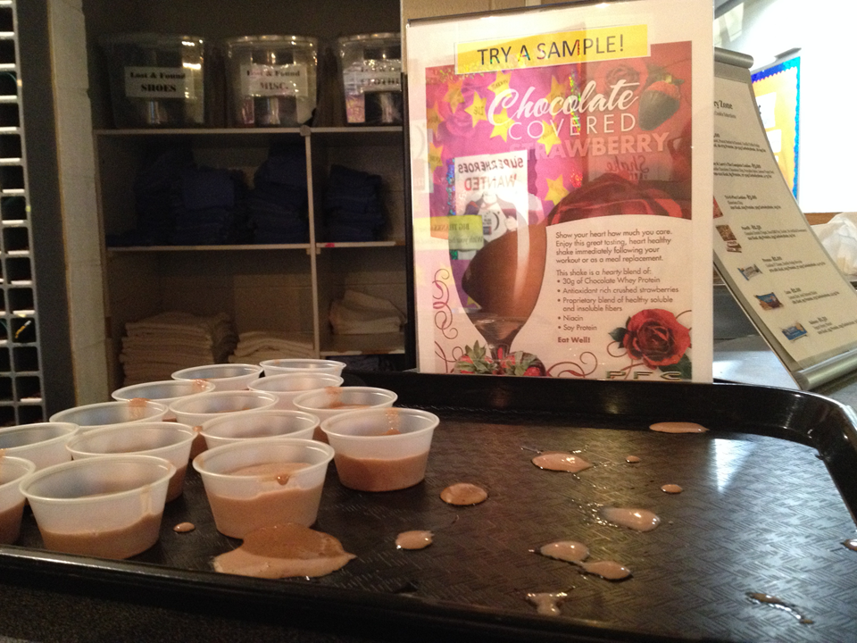 Figure 3.  The Recovery Zone, offering samples of smoothie of the month.