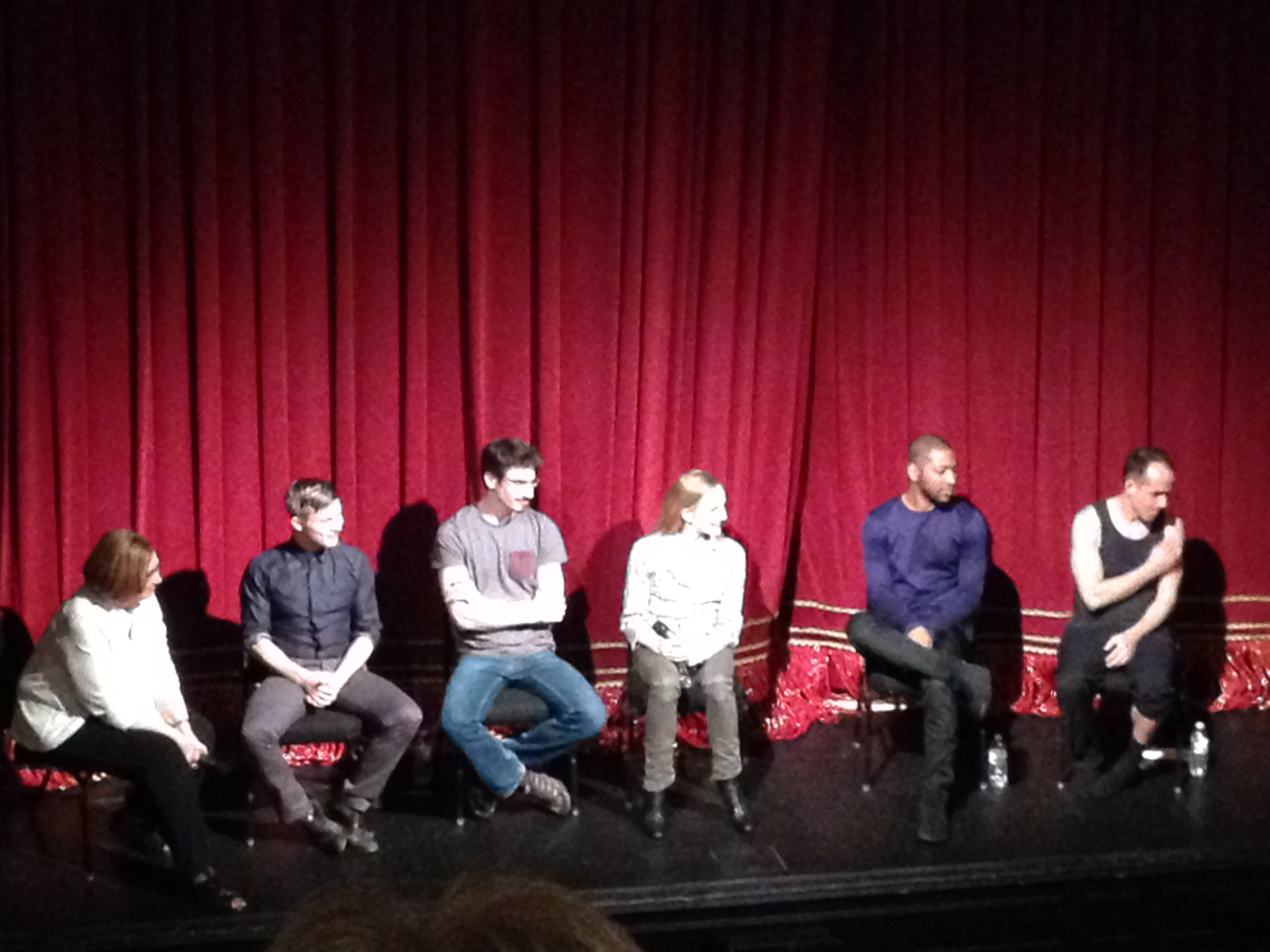 Figure 2.  A Q&A with the Restless Creature ensemble, moderated by DANCECleveland (far left).