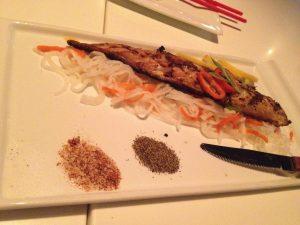 Figure 5. Salt and peper wild Norwegian mackerel. Steve's gamble paid off---this was really good!